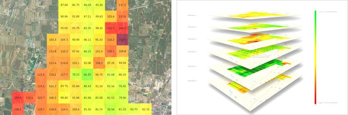 대기오염농도측정지도